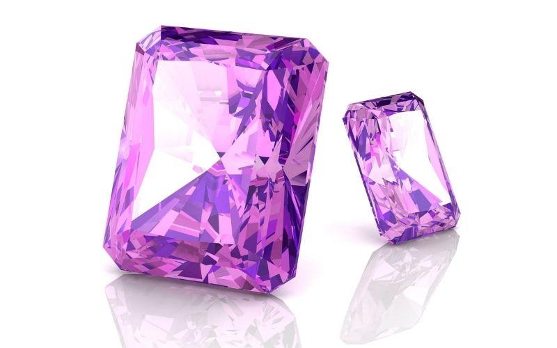 Amethyst-Brilliantschliff violett