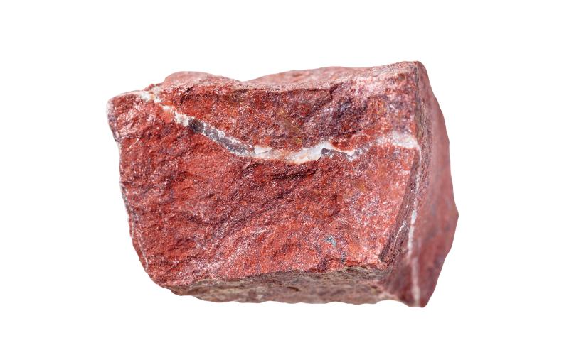 Jaspis-Rohstein Mineralien