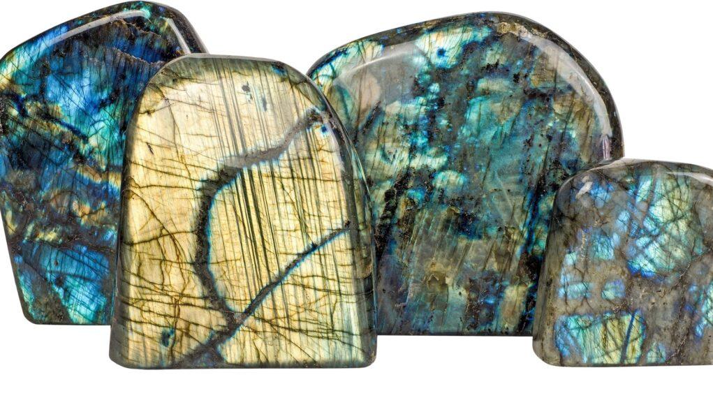 Labradorit Edelstein Mineralien