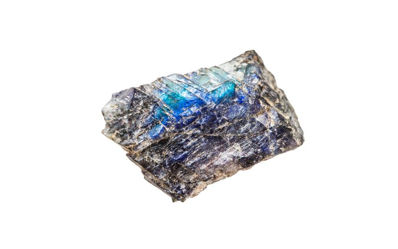 Labradorit Rohstein Brocken Mineralien