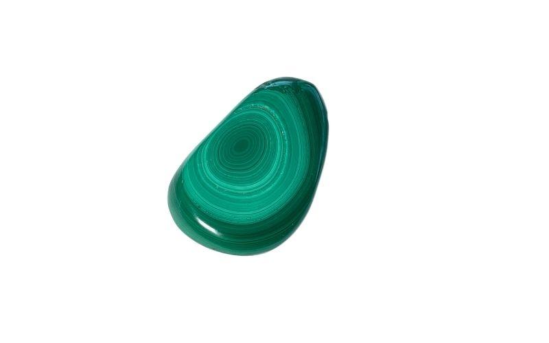 Malachit-Anhaenger-geschliffen grün