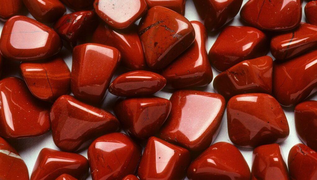 Rote Jaspis Edelstein